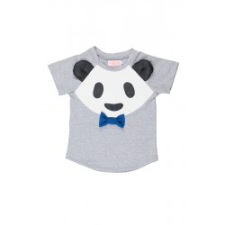 T-shirt Grey Panda Face