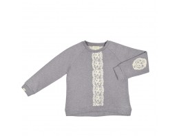 BLUZA / SWEAT LACE grey