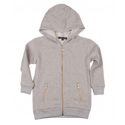 ZIP HOOD / BLUZA JADE GREY GOLD